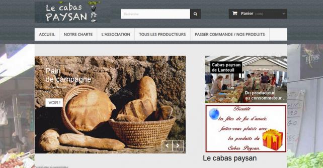 Le site de commande en ligne du Cabas Paysan de Lanteuil a fait peau neuve