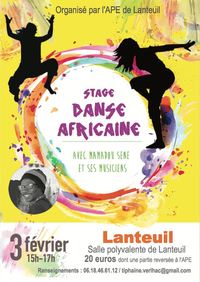 affiche danse africaine