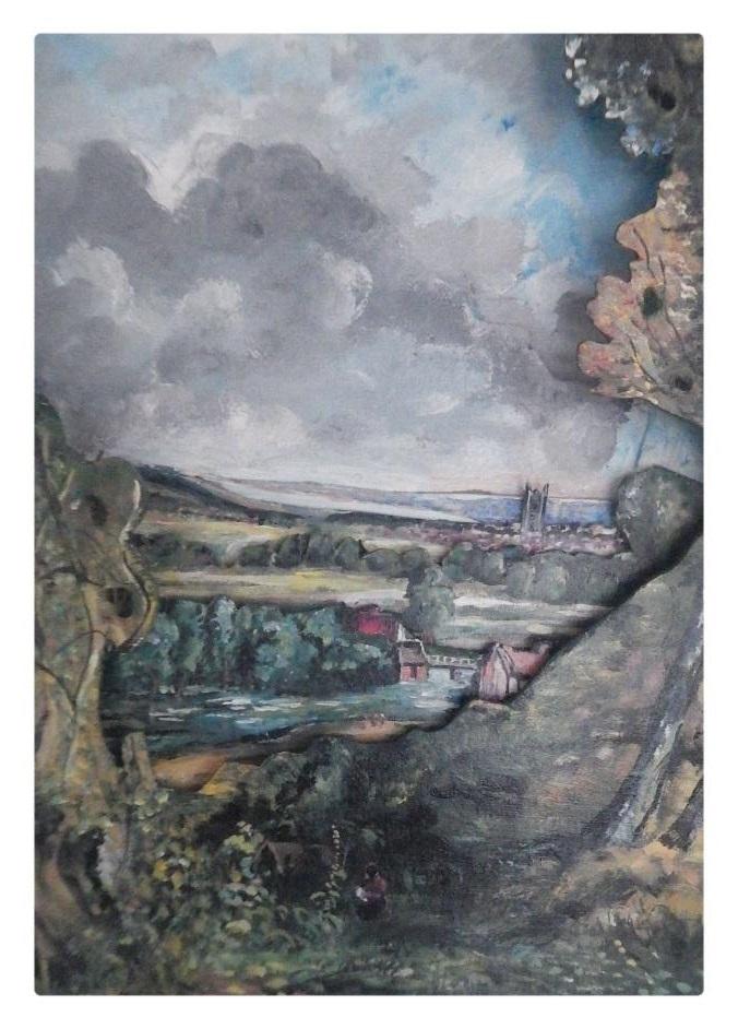 Mon décor d'après l'œuvre de John Constable (3/4 Coté gauche)