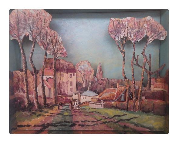Camille Pissarro (1830 – 1903) Entrée du village de Voisin (1872)