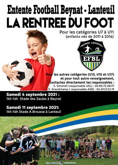 flyer Ecole de Football Beynat Lanteuil